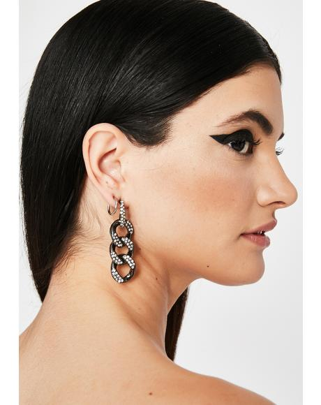 Glamour Alert Rhinestone Earrings