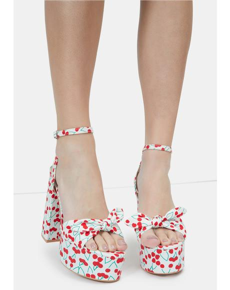 Chill Cherry Love Languages Platform Sandals