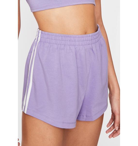 Lilac Simple Slay Knit Shorts