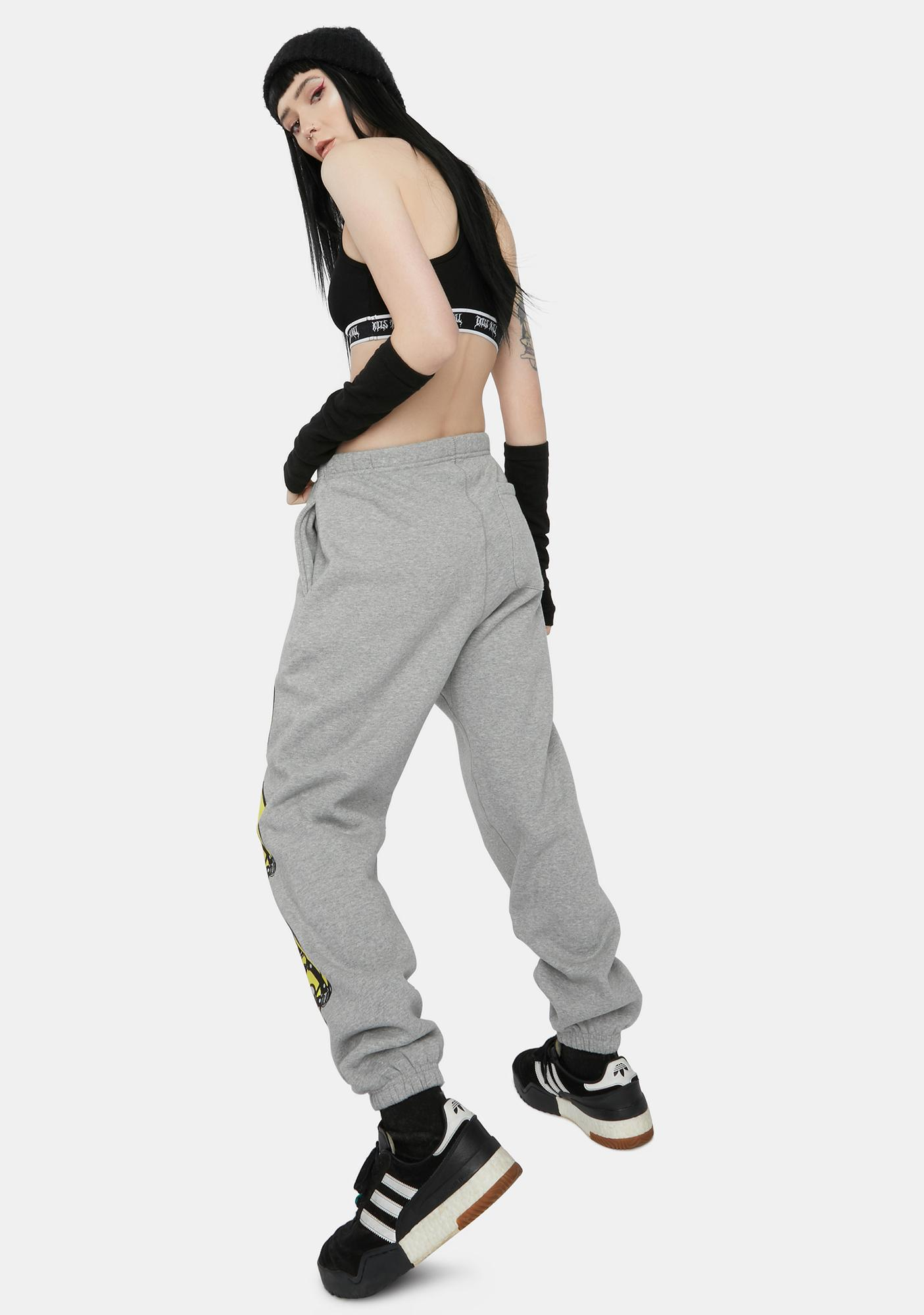 CHINATOWN MARKET Gray Smiley Ball Gag Sweatpants
