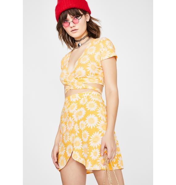 Motel Derla Wrap Skirt