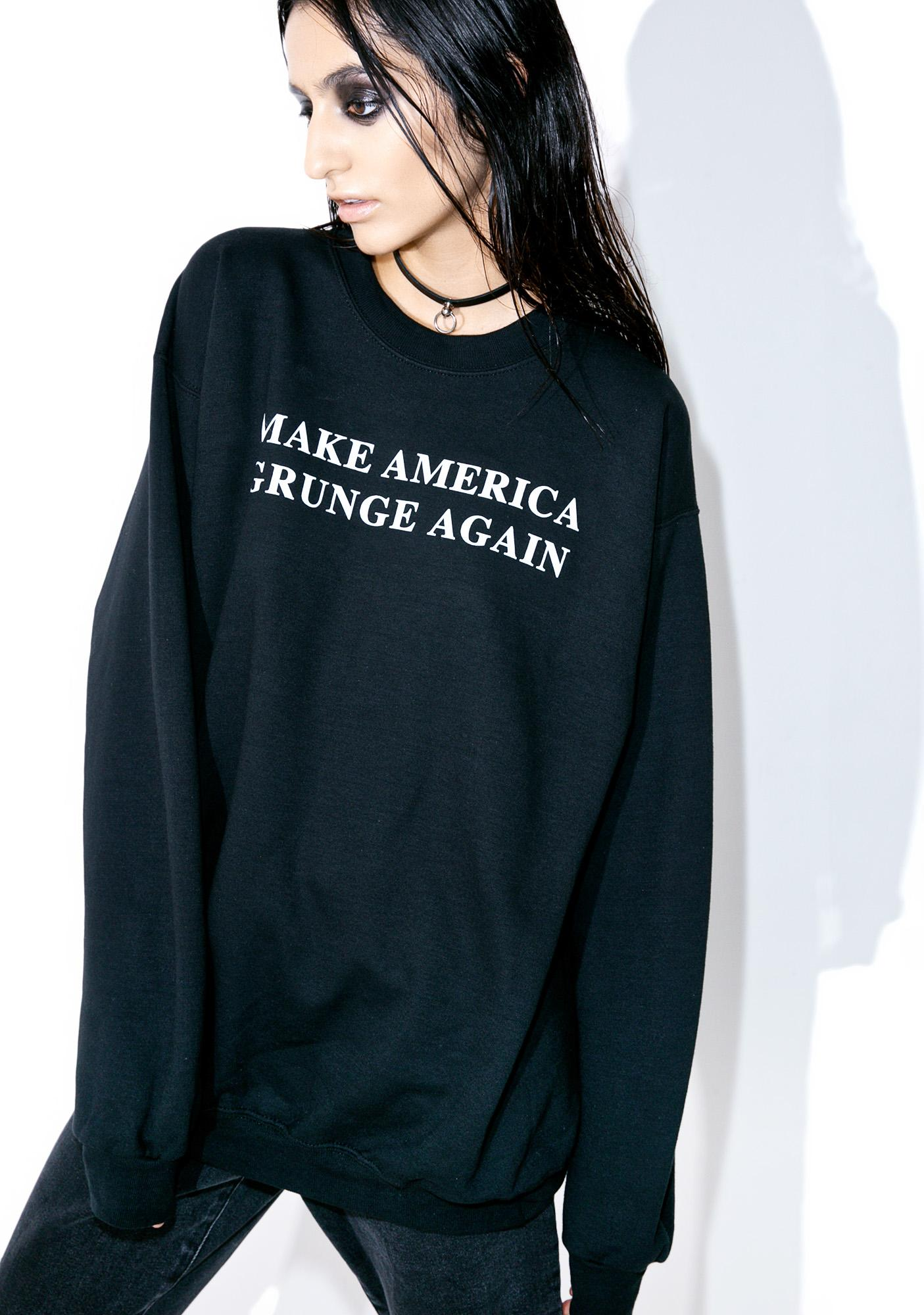 Petals and Peacocks Make America Grunge Sweatshirt