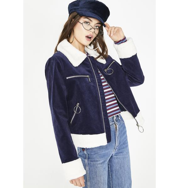 Glamorous Uptown Babe Sherpa Jacket