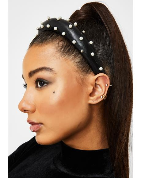 High Society Girl Pearl Headband