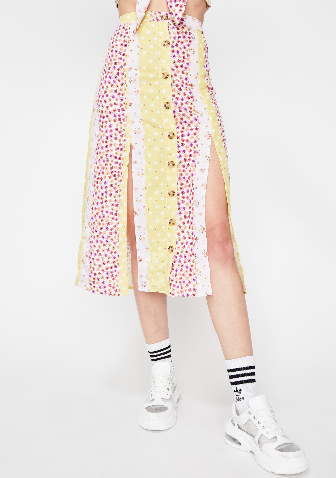 Flower Fields Forever Midi Skirt