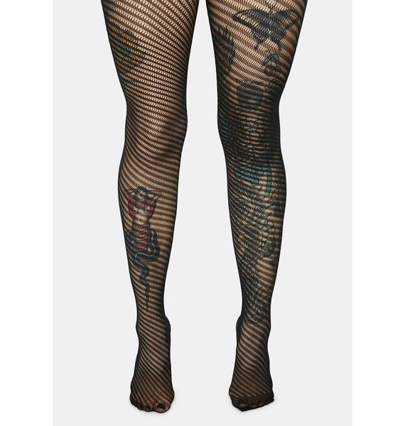 Wild Twister Fishnet Tights