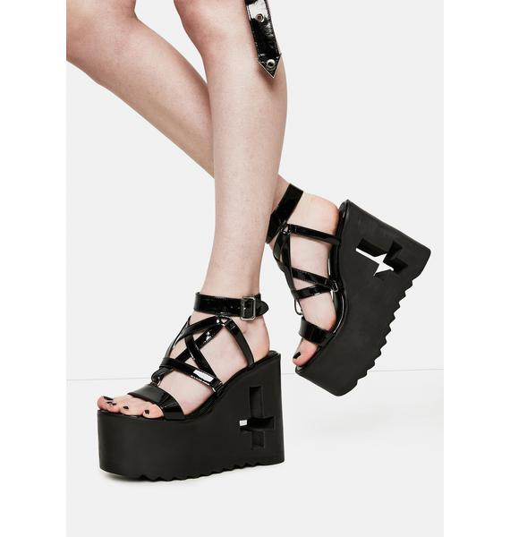 Current Mood Evil Awaits Pentagram Platform Sandals