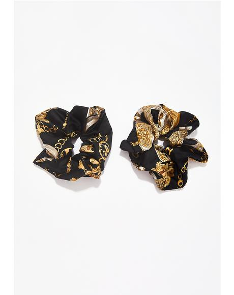 Dark Showy Taste Scarf Scrunchies