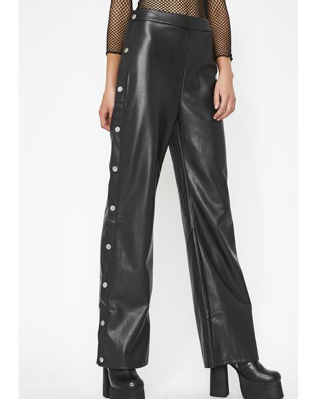 Leather Zaddy Popper Pants
