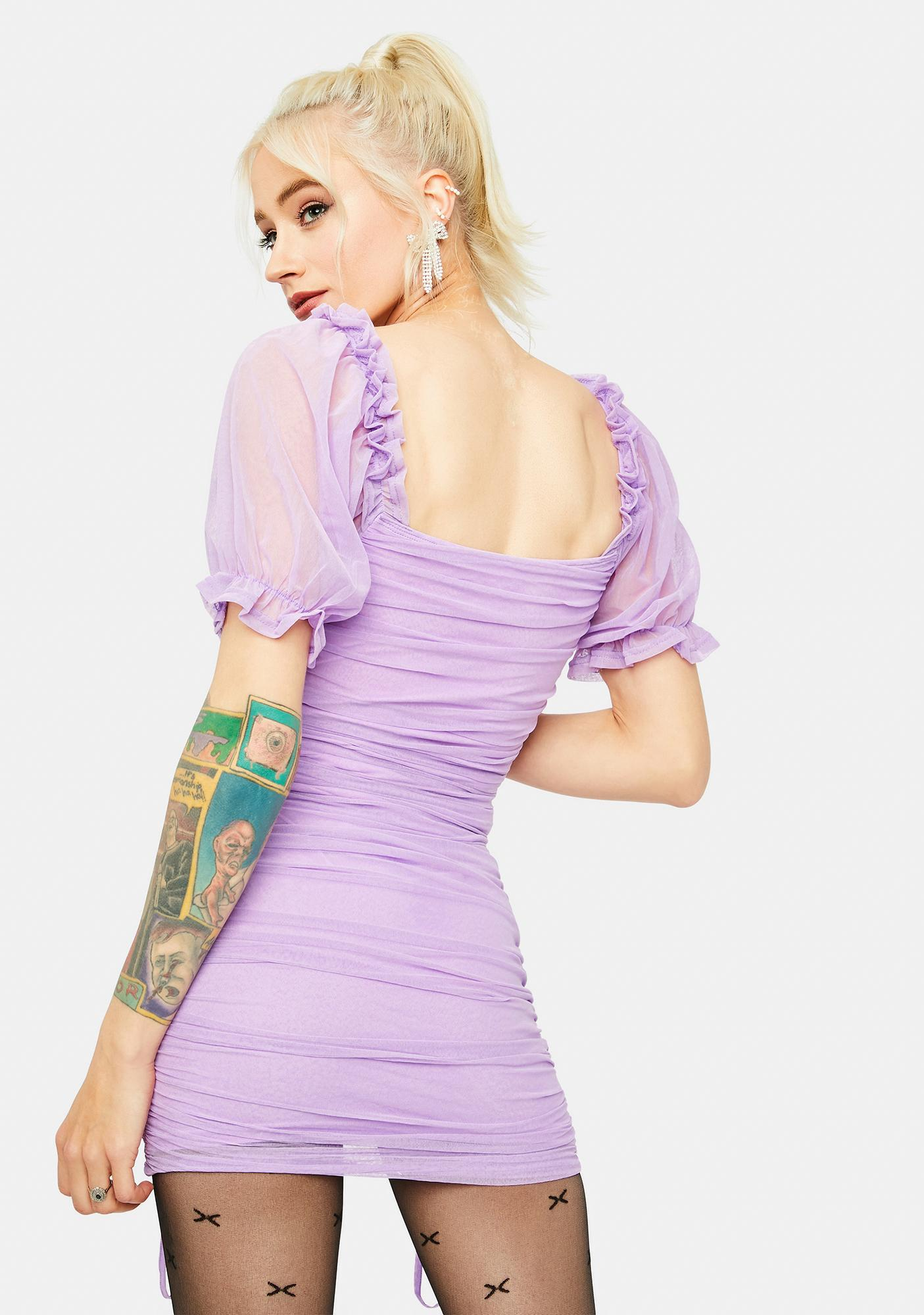 Fairy Becoming Bougie Puff Sleeve Mini Dress