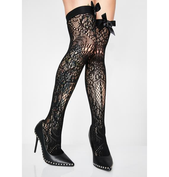 Killstar Lysithea Lace Socks