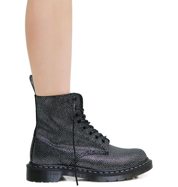 Dr. Martens Metallic Pebble 1460 8 Eye Boots
