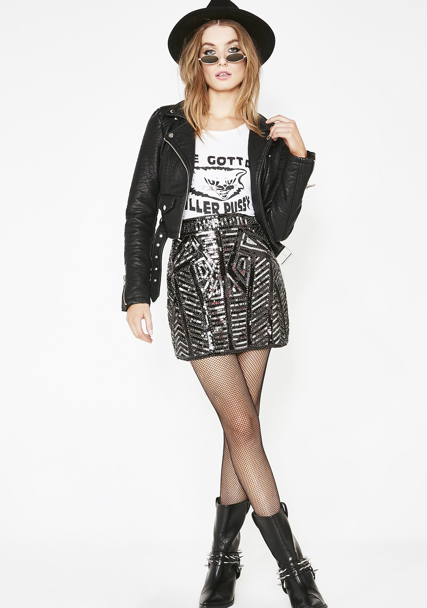 Lass Of Luxury Sequin Skirt