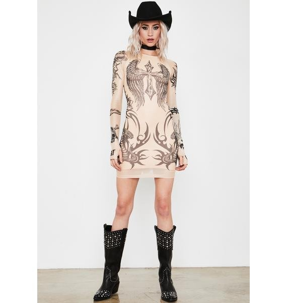 Current Mood Lives For Sin Tattoo Dress