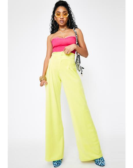 Riot Velour Wide Leg Pants