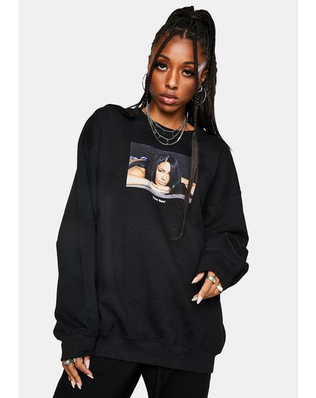 x Aaliyah Reflect Crewneck