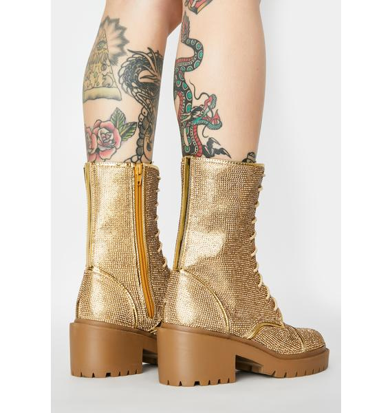 Gold Freak Galore Ankle Boots