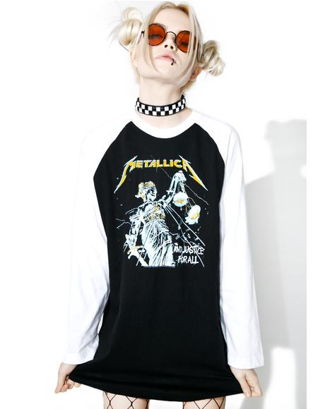Metal 'N Justice Raglan Tee