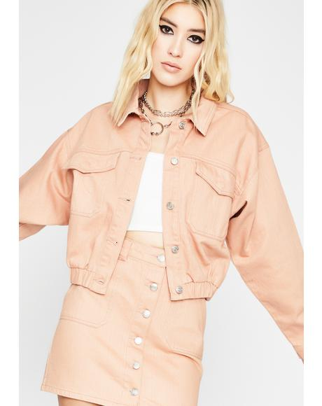 Blush All Day Long Denim Jacket