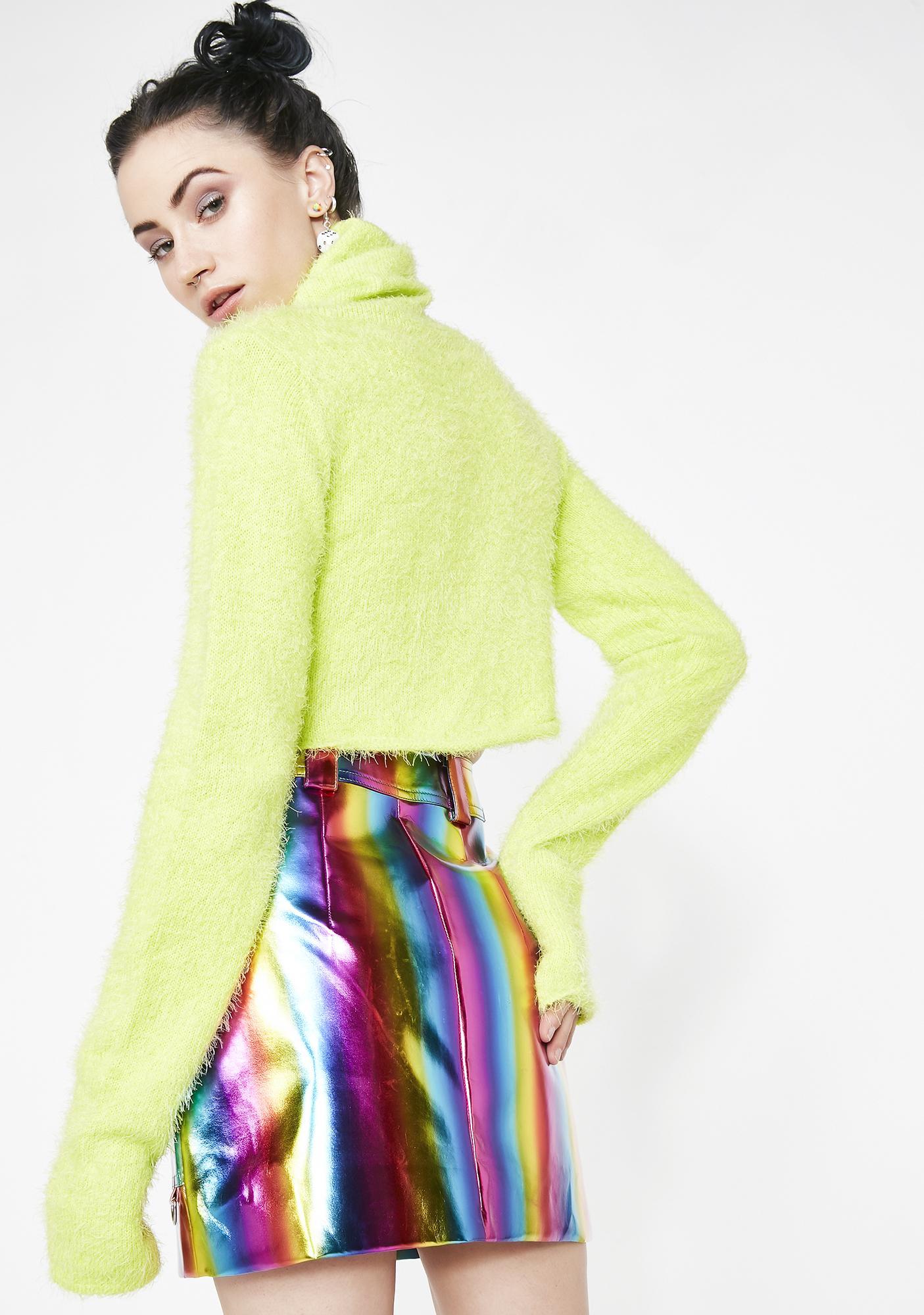 Current Mood Trippy Vision Mini Skirt