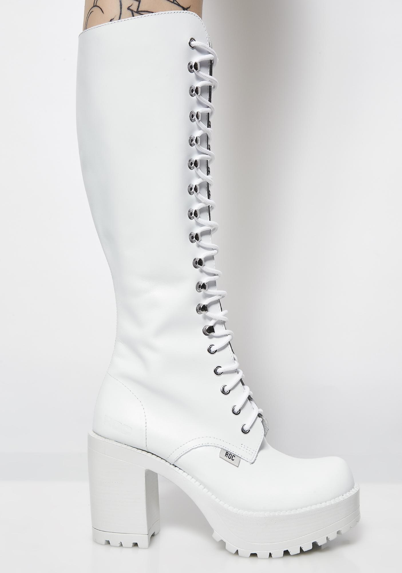 fd2f4bd69ab ROC Boots Australia Icy Lash Boots | Dolls Kill