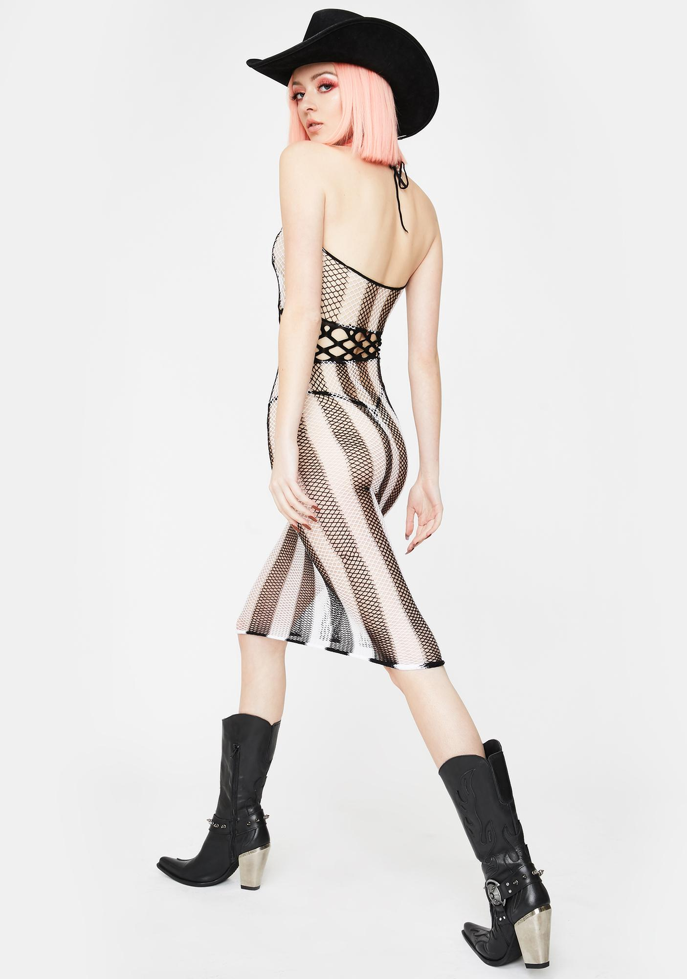 Dangerous Drifter Fishnet Dress