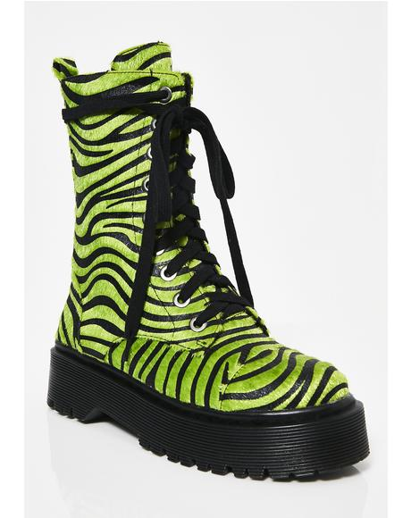 Wild At Heart Zebra Boots