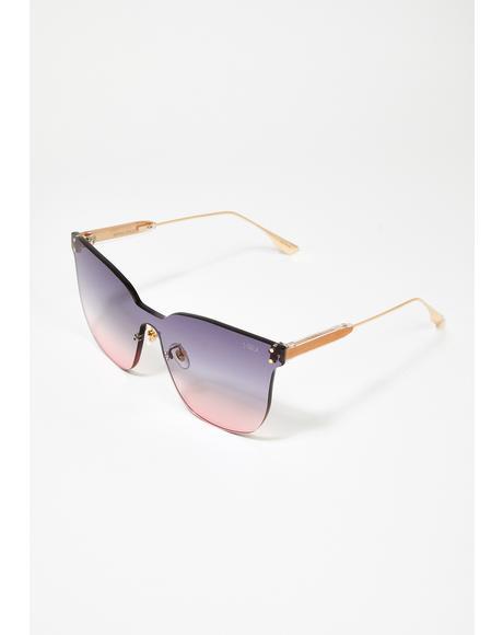 Gray Pink Moonchild Sunglasses