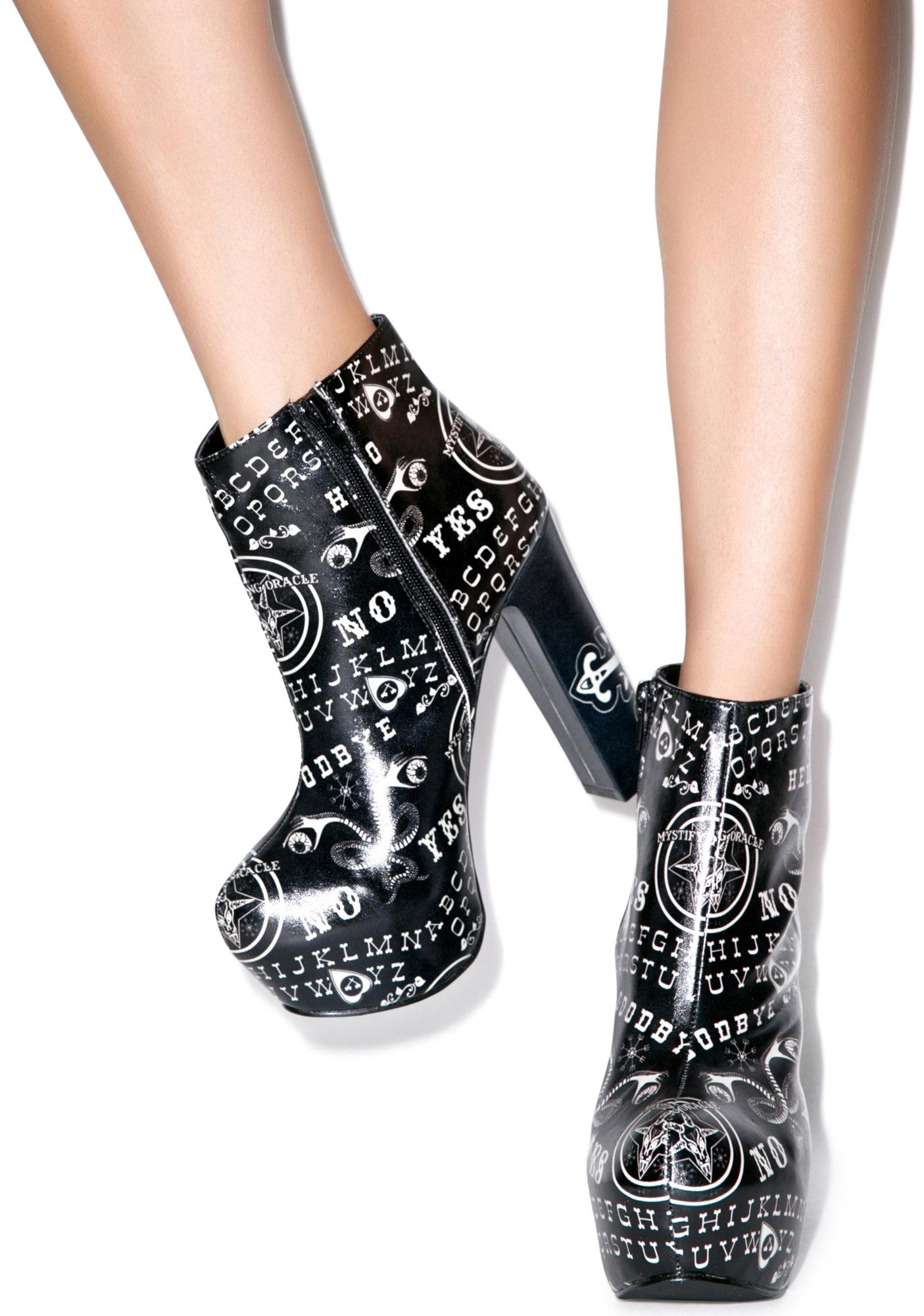 Too Fast Ouija Ankle Bootie