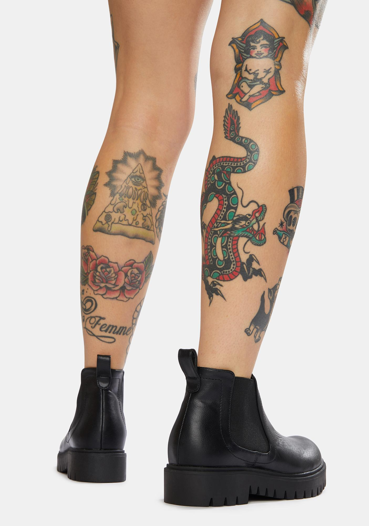 Ink You Got Me Low Rise Chelsea Boots
