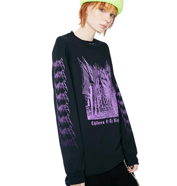 NO WH3R3 Nocturnal Long Sleeve Tee