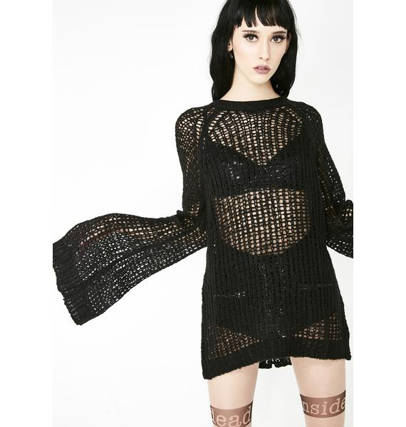 Killstar Audrey's Evil Knit Sweater