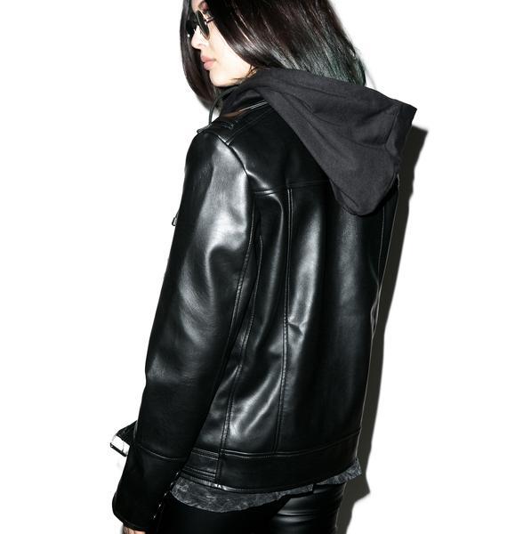 Killstar Moody Vegan Leather Jacket