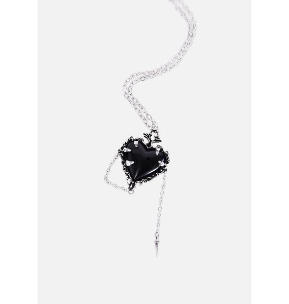 Alchemy England Witches Heart Chain Necklace