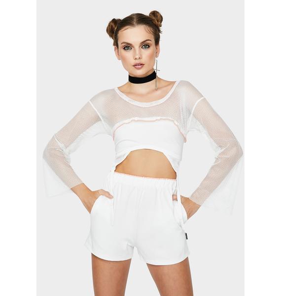 ZEMETA White Heaven Lounge Shorts Set