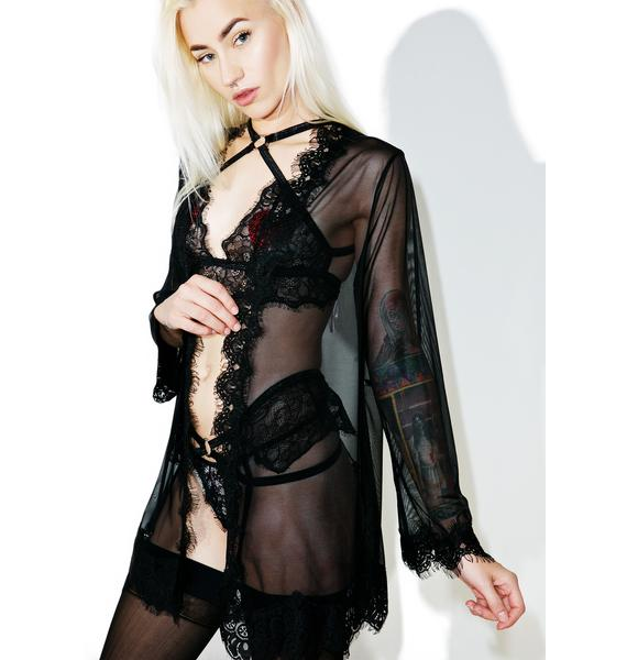 Nightingale Lace Robe