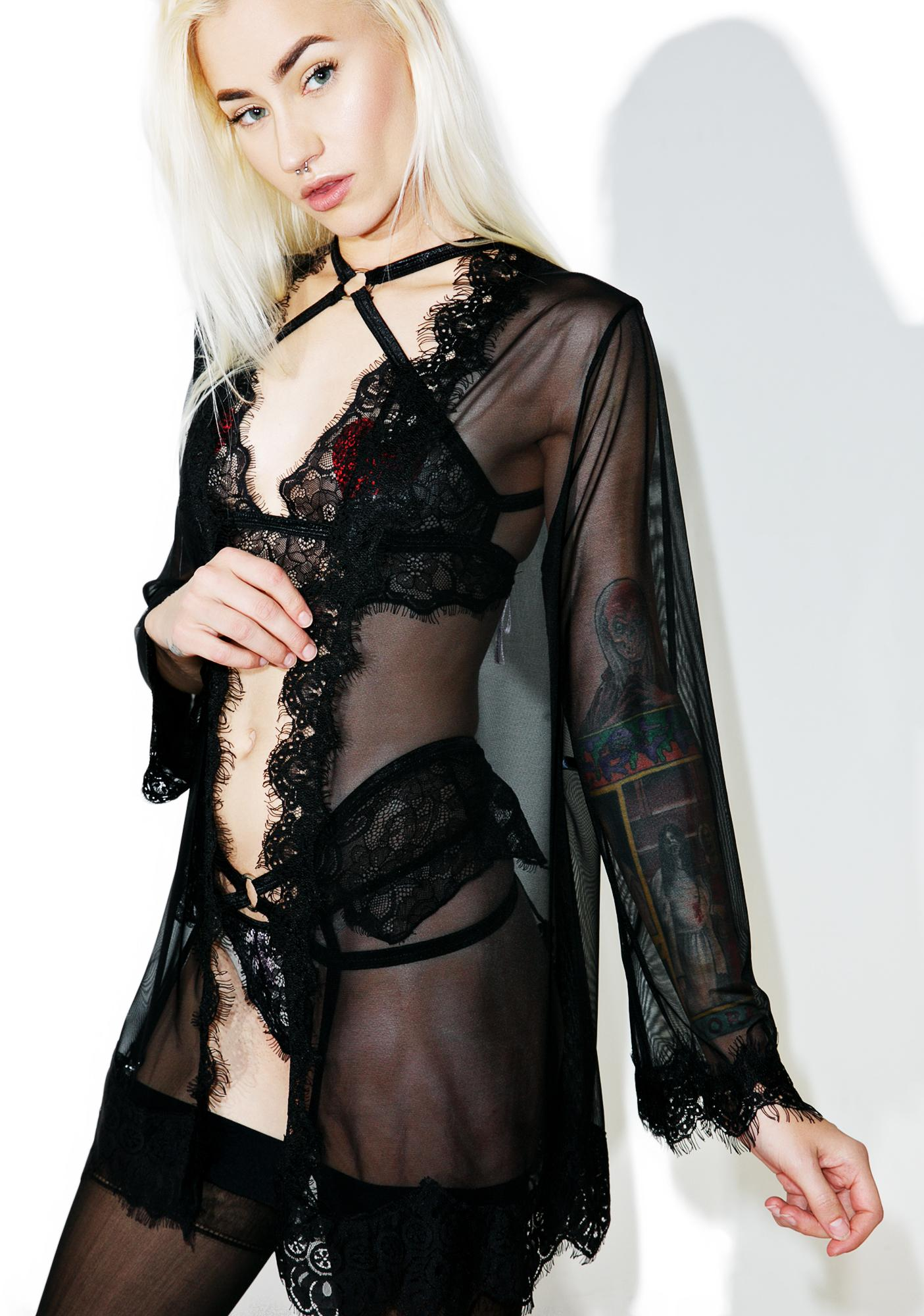 Nightingale Lace Robe