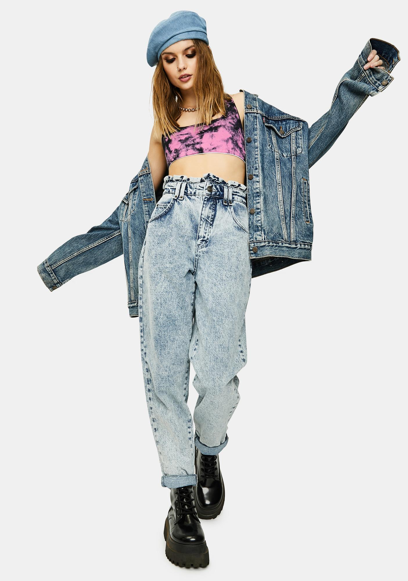 BDG April Ruffle Denim Jeans