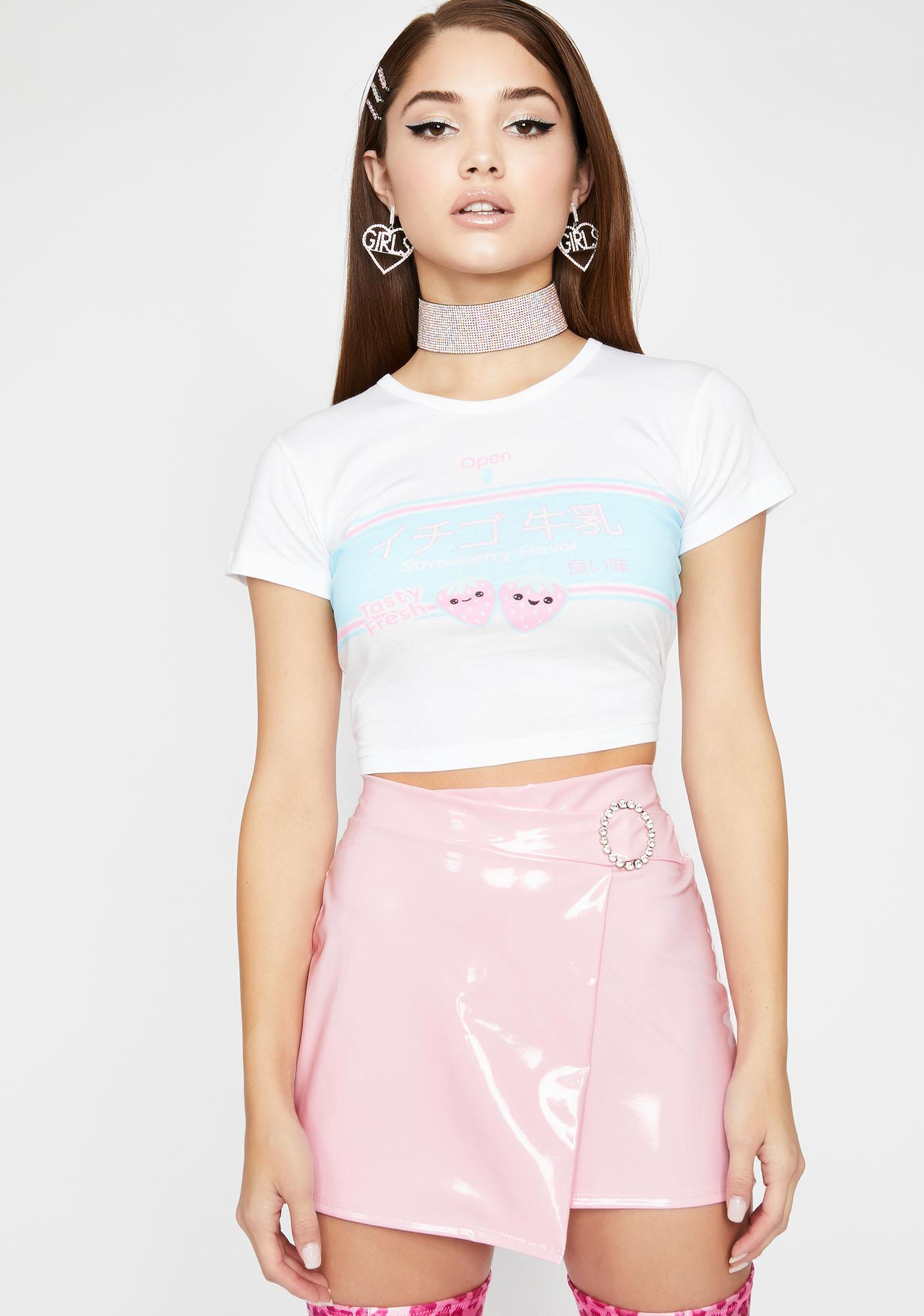 Bratty Bae Vinyl Skirt