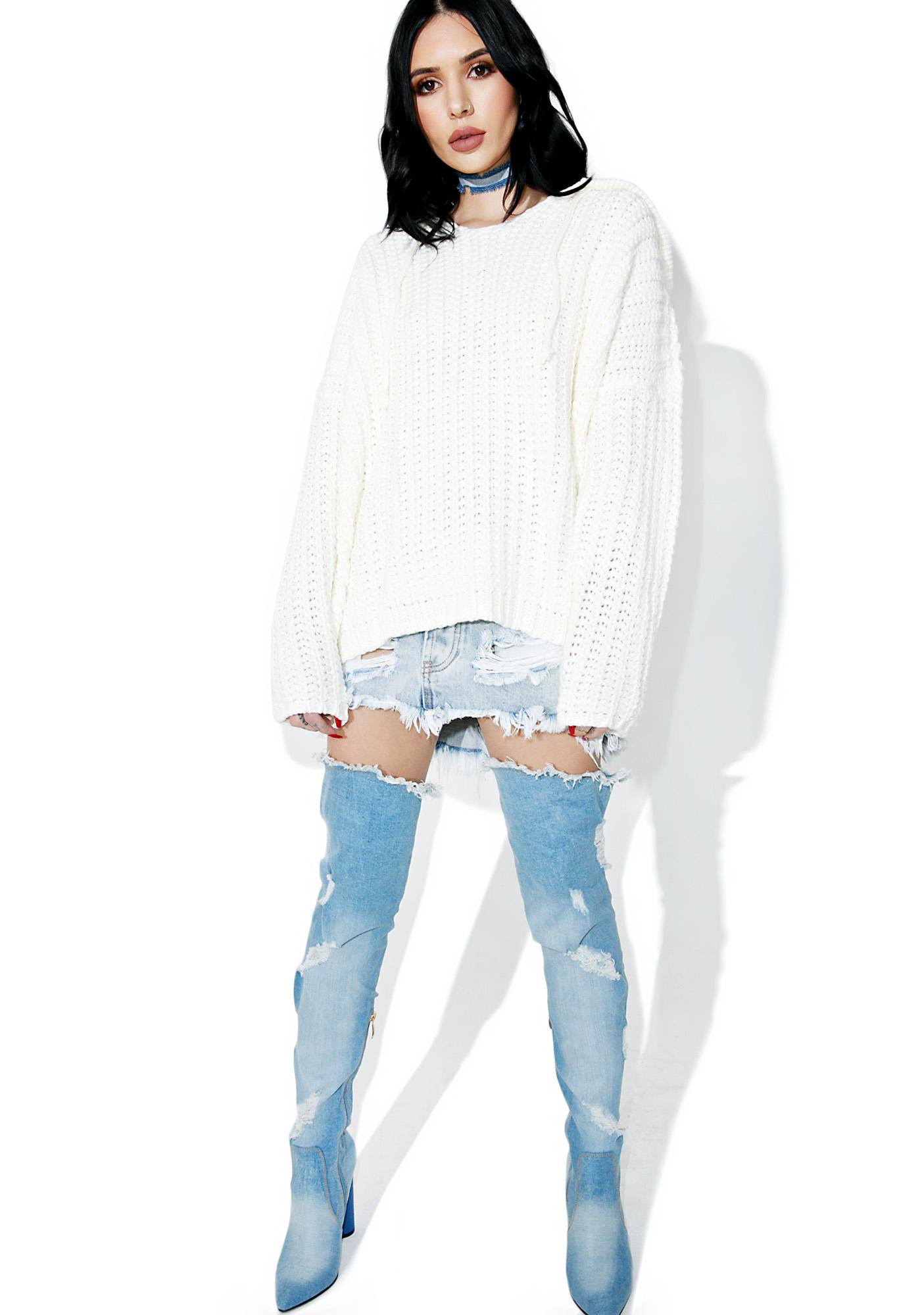 Ivy Cable Knit Hoodie