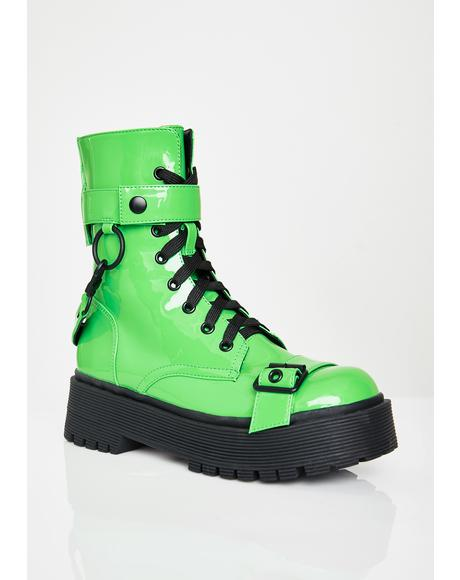 Atomic Slime Combat Boots