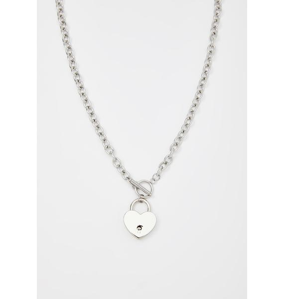 Love On The Line Lock Necklace
