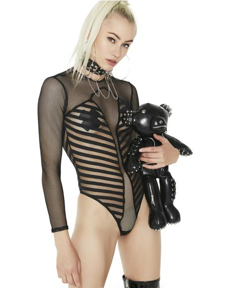 Sheer Shakedown Long Sleeve Bodysuit