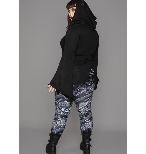 Widow Deadly Catacomb Crypt Printed Leggings
