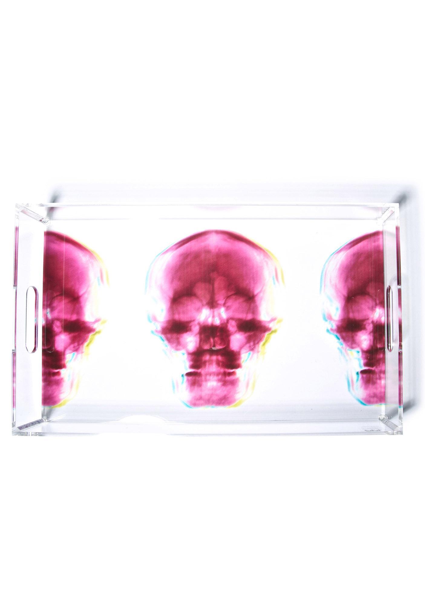 Radiant Relics X-Ray Skull Acrylic Tray