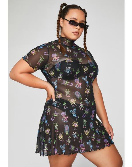 Dark She's Electro Terrestrial Mini Dress