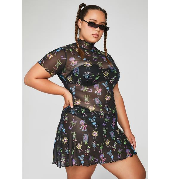 Club Exx Dark She's Electro Terrestrial Mini Dress