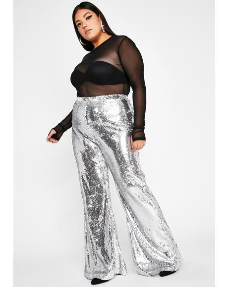 She's Superficial AF Sequin Flares