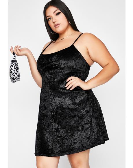 Your Feisty Flirt Velvet Dress