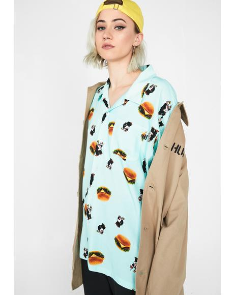 Wimpy Burger Button Up